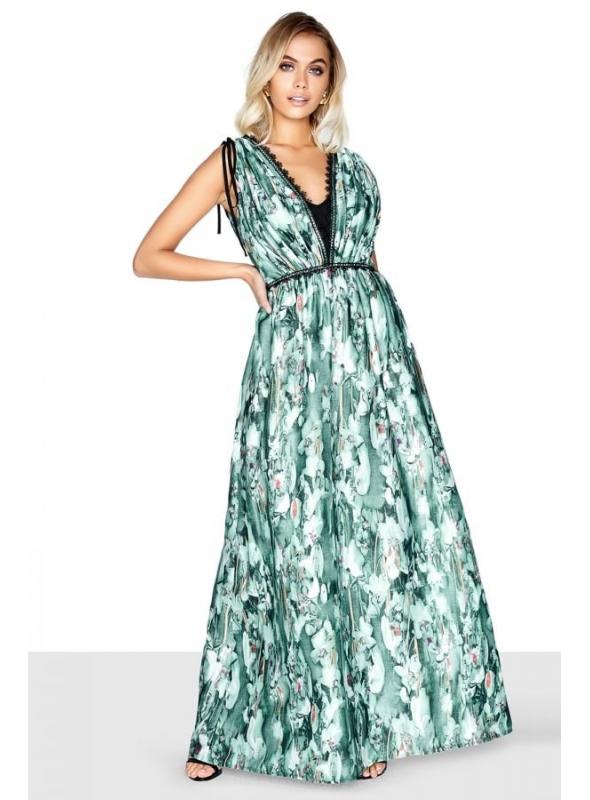 "Luxusné maxi šaty ""Biela orchidea"""