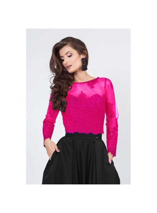 "Lace top ""Fuchsia swan"""