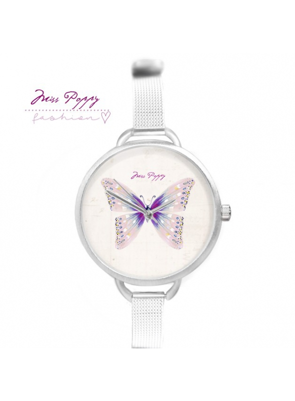 """Watch """"BUTTERFLY STYLE"""" - ladies watch with powder butterfly"""