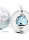 "Hodinky ""GIRL LOVE"" – dámske hodinky dievča na bicykli"