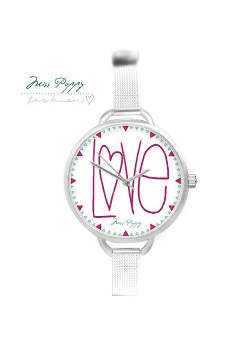 """Hodinky """"LÁSKY ČAS"""" – dámské hodinky s nápisem love"""