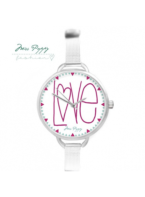 "Watch ""LOVE TIME"" - ladies watch with an inscription love"