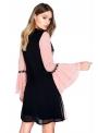 Dress PINK-BLACK GARDEN