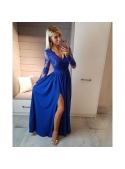 Maxi modré šaty Sabina