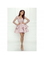 Mini šaty LILI, pudrovo ružové