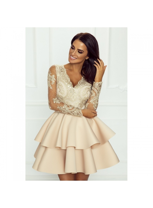 Mini šaty LILI, zlatokrémové