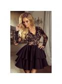 Mini šaty LILI, černé s tělovou podšívkou