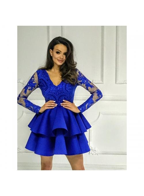 Mini šaty LILI, námornícka modrá