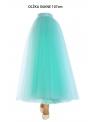 Lunicite MENTOLOVÝ TULIPÁN – exkluzívna tylová sukňa mentolová, 107cm