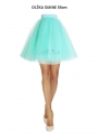 Lunicite MENTOLOVÝ TULIPÁN – exkluzívna tylová sukňa mentolová, dĺžka 55cm