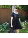 Lunicite ČIERNY TULIPÁN – exkluzívna tylová sukňa čierna, dĺžka 55cm