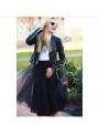 Lunicite ČIERNY TULIPÁN – exkluzívna tylová sukňa čierna, 60cm