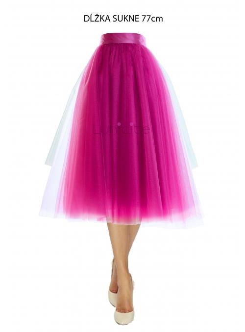 Lunicite  ZÁŘIVÝ TULIPÁN LILA - exkluzivní tylová sukně zářivá lila, 77cm