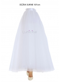Lunicite WHITE TULIP - exclusive tulle skirt creamy white, 107 cm