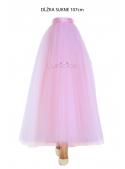 Lunicite BLEDO RUŽOVÝ TULIPÁN – exkluzívna tylová sukňa bledo ružová, 107cm