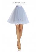 Lunicite ŠEDÝ TULIPÁN –  exkluzivní tylová sukně sříbrno šedá, délka 55cm