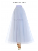 Lunicite GRAY TULIP - exclusive tulle skirt silvery white, 107 cm