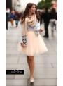 Lunicite BROSKYŇOVÝ TULIPÁN – exkluzívna tylová sukňa broskyňová, 55cm