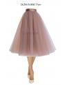 Lunicite CAPPUCCINO TULIPÁN – exkluzívna tylová sukňa cappuccino, 77cm