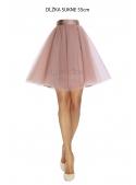 Lunicite CAPPUCCINO TULIPÁN – exkluzivní tylová sukně cappuccino, 55cm