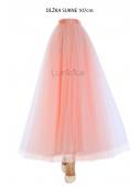 Lunicite PUDROVÝ TULIPÁN – exkluzivní tylová sukně pudrově růžová, délka 107cm