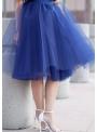 Lunicite MODRÝ TULIPÁN – exkluzívna tylová sukňa tmavomodrá, dĺžka 77cm