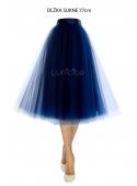 Lunicite MODRÝ TULIPÁN – exkluzivní tylová sukně tmavěmodrá, délka 77cm