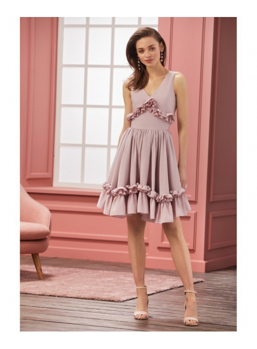 """Šaty """"Chantelle"""" - dámské růžové šaty"""