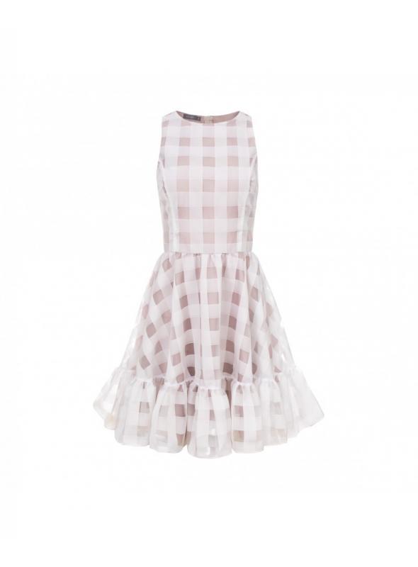 """Šaty """"NOEMI"""" - dámské kostkované šaty"""