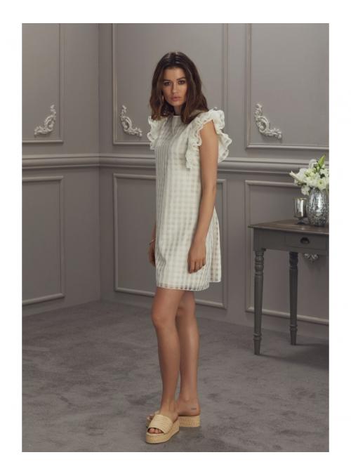 """Šaty """"FLORENTINA"""" - dámske šaty krémovej farby"""