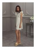 """Dress """"FLORENTINA"""" - women's dress cream color"""