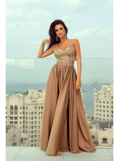 "Maxi Dress ""Milk Chocolate"""