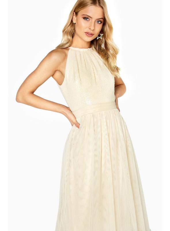 "Maxi šaty ""Gold wind"""
