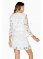 White mini dress with lace