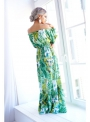 "Dress ""Green jungle"" - patterned women's maxi dresses"