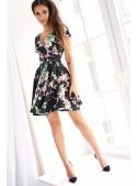 """Krátke šaty """"TEMNÝ KVET""""-dámske šaty s kvetmi"""
