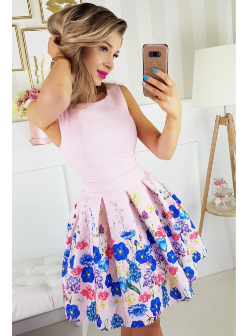 "Šaty ""Coctail garden"", pink"