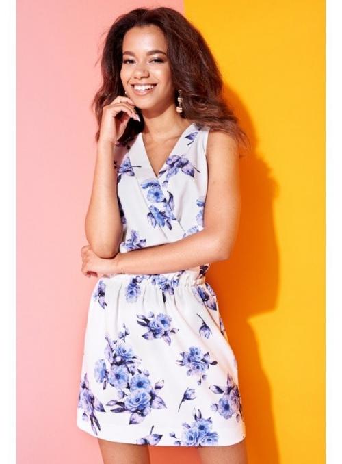 "Šaty ""PINKY DAY""- dámske šaty s kvetinovou potlačou"