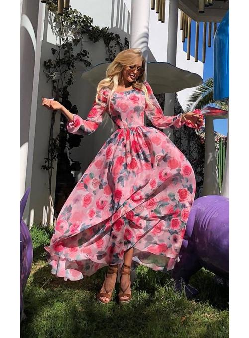 ZÁHON RUŽÍ – dámske maxi šaty