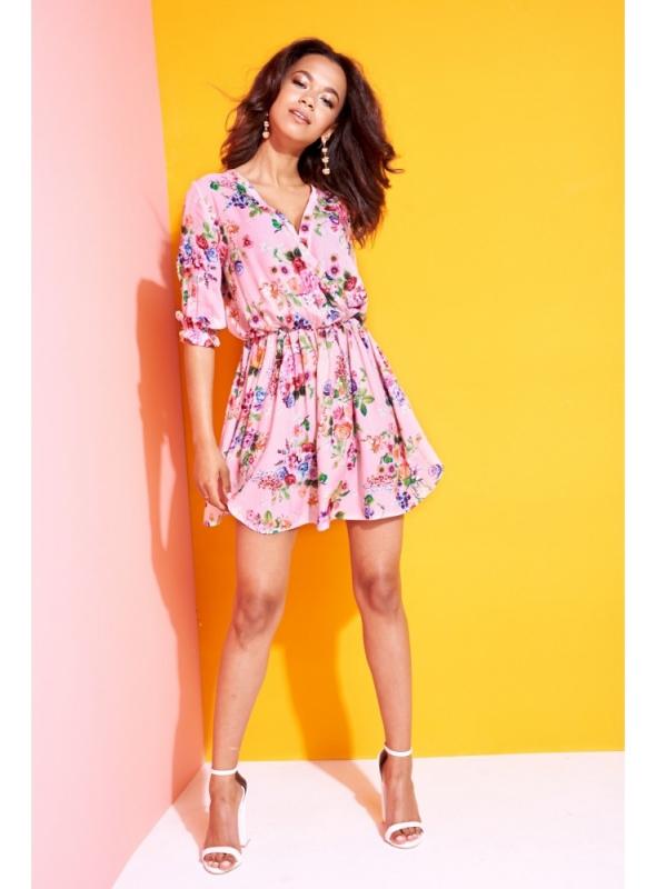 "dámske mini šaty ""PINK FLOWER"" - Dadoo 5943bf4225d"