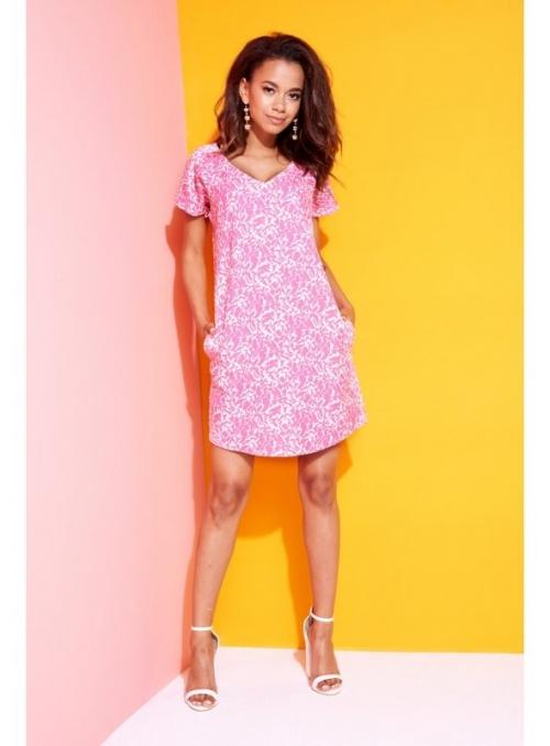 """""""PINK NATURE"""" - dámske krátke šaty"""