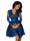 Mini šaty CARMEN s dlhým rukávom, morské