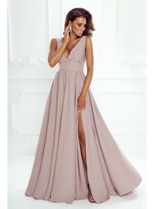 "Maxi šaty ""Pudrová romantika"""