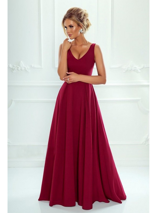 "Burgundy maxi dress ""Klaudia"""