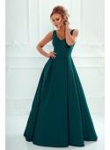 Maxi tmavozelené šaty Klaudia