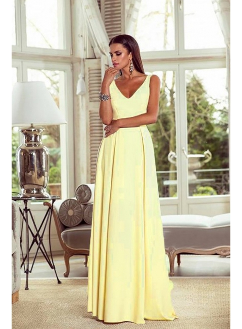 Klaudia - yellow maxi dress