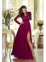 Maxi bordové šaty Isabella