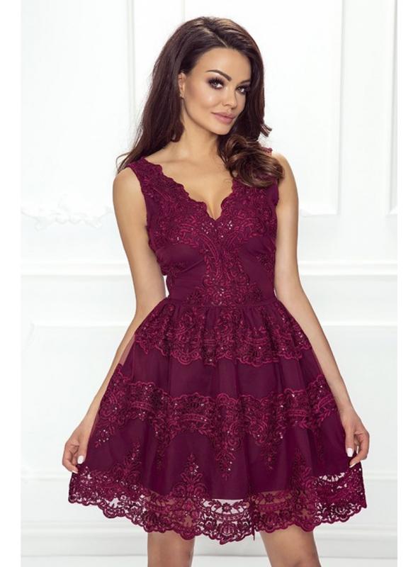 Mini šaty CARMEN, bordové