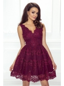 Mini dress CARMEN, burgundy