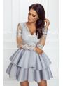 Mini šaty LILI, striebristo sivé